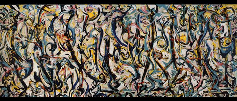 Jackson Pollock MURALE Energia Resa Visibile   Mostra a Venezia