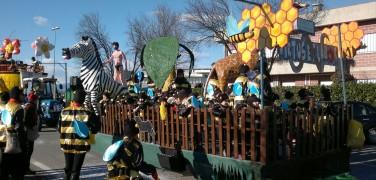 Sfilata dei carri di Carnevale a Marghera