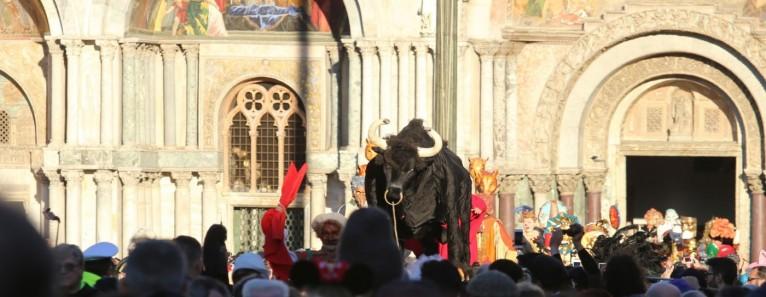 Carnevale 2017: Taglio della testa al toro in Piazza San Marco