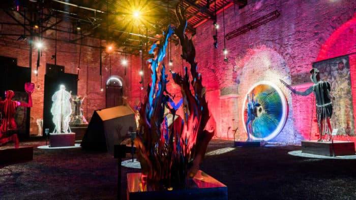 L'Inferno di Dante con le sculture di Vasily Klyukin all'Arsenale di Venezia